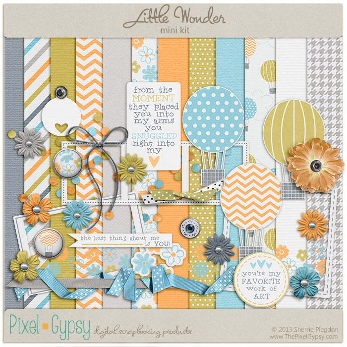 Little Wonder Digital Scrapbooking Mini Kit