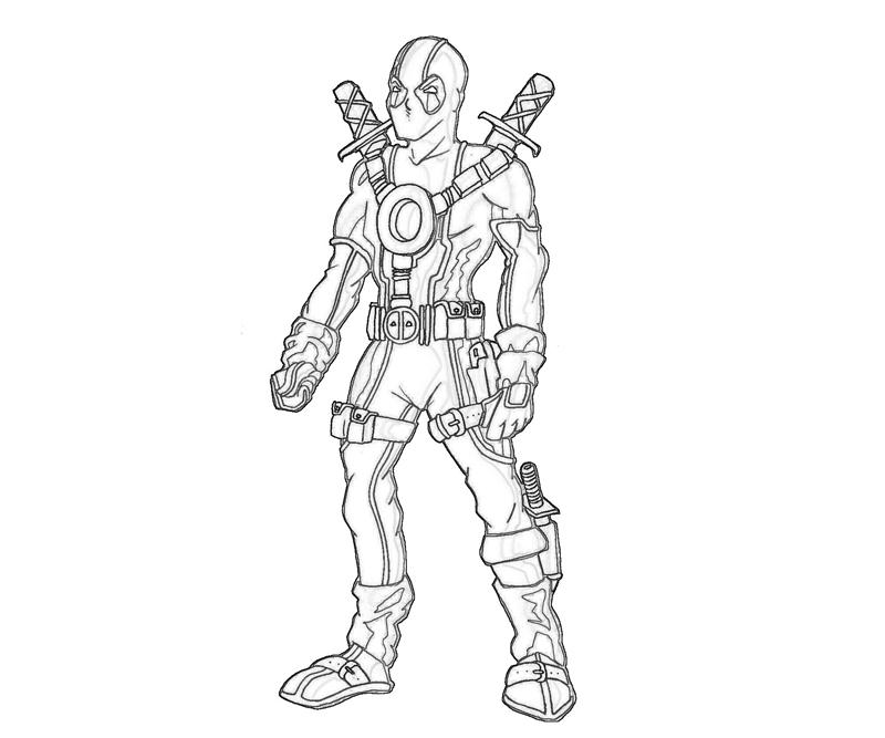 Deadpool action mario for Dead pool coloring pages