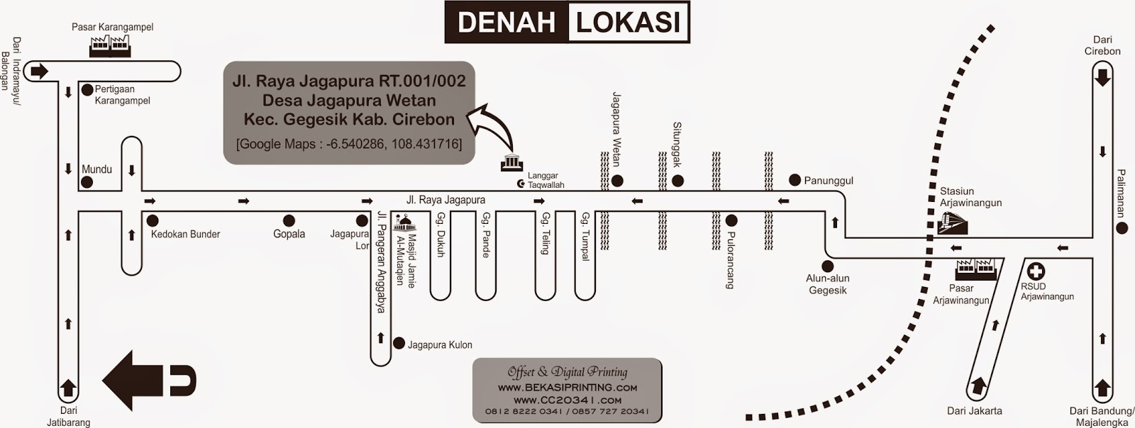 Denah Desa Jagapura Gegesik Cirebon