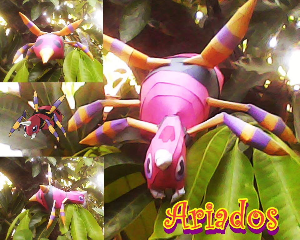 Pokemon Ariados Papercraft