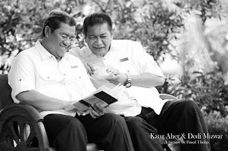 FOTO AHMAD HERYAWAN (AHER) DAN DEDDY MIZWAR Ketetapan KPU Pemilukada Jabar 2013