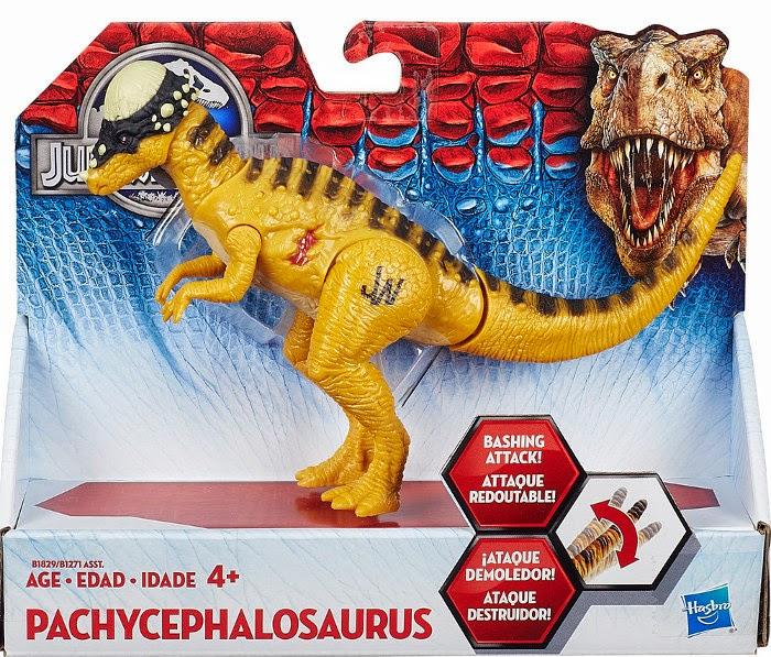 JUGUETES - Jurassic World  Pachycephalosaurus | Dinosaurio | Figura  Hasbro B1829 | Toys | Película 2015 | A partir de 4 años