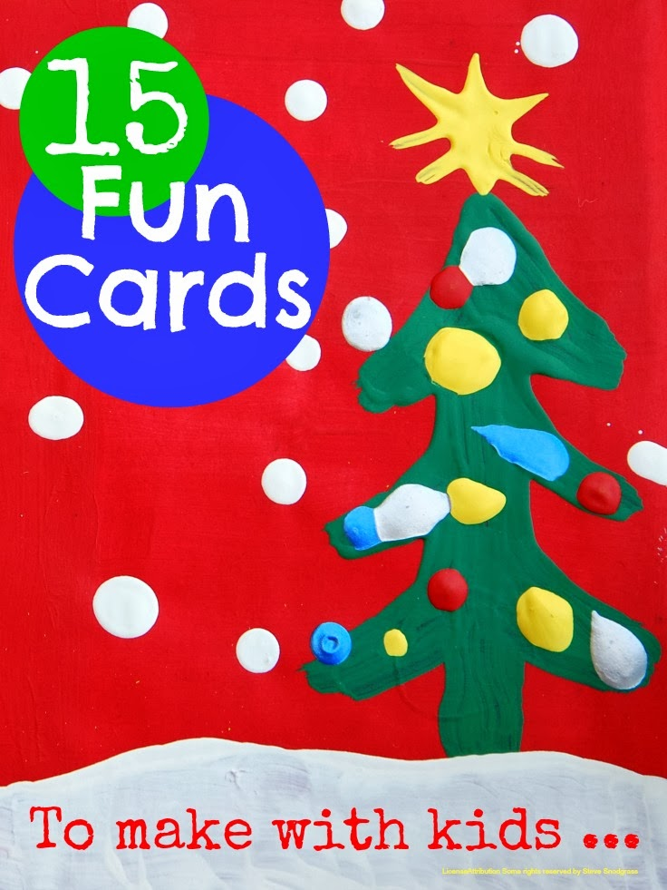 Making Christmas Cards with Kids