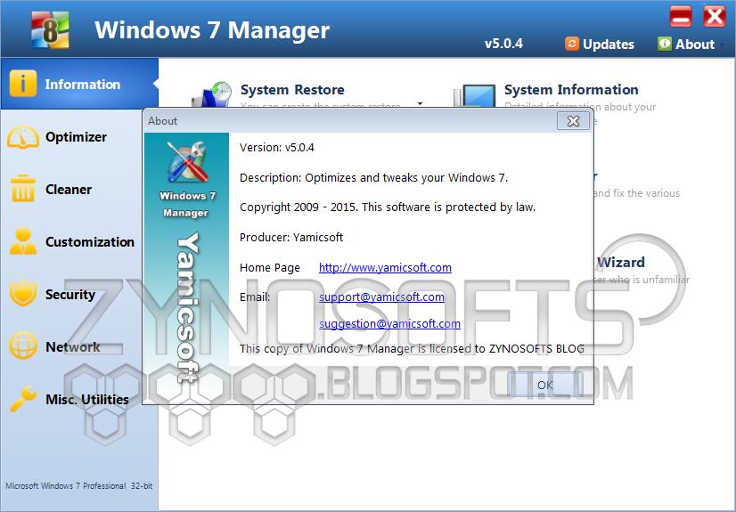 Yamicsoft vista manager v2.0.0