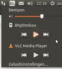 Uklonite VLC ili Rhythmbox iz izbornika zvuka, Ubuntu 14.04.