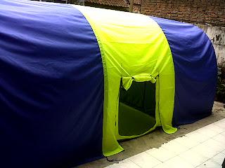 tenda dome, tenda dome lorong