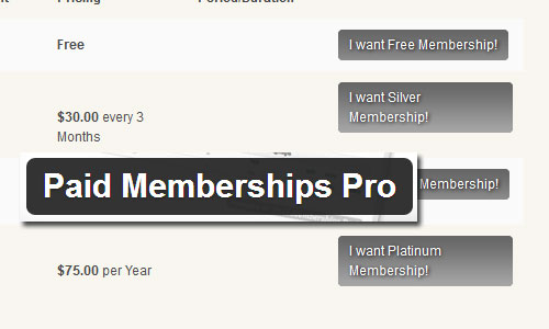 Paid Membership Pro Plugin Customization