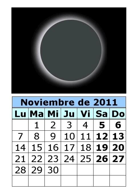 continuación las fechas de las cuatro fases lunares de noviembre ...