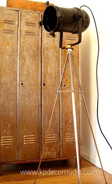Loft estilo industrial con lámparas vintage