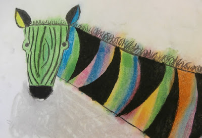 zebra art for kids