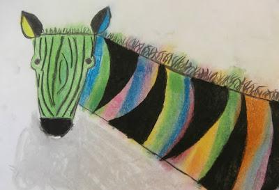 zebra art for kids