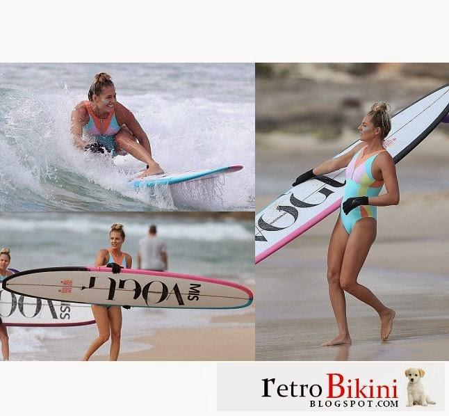English: Stephanie Gilmore Blue Bikini Vogue Australia