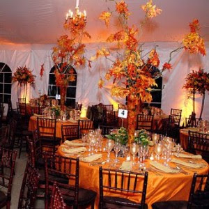 Amazing Tall Fall Wedding Centerpieces