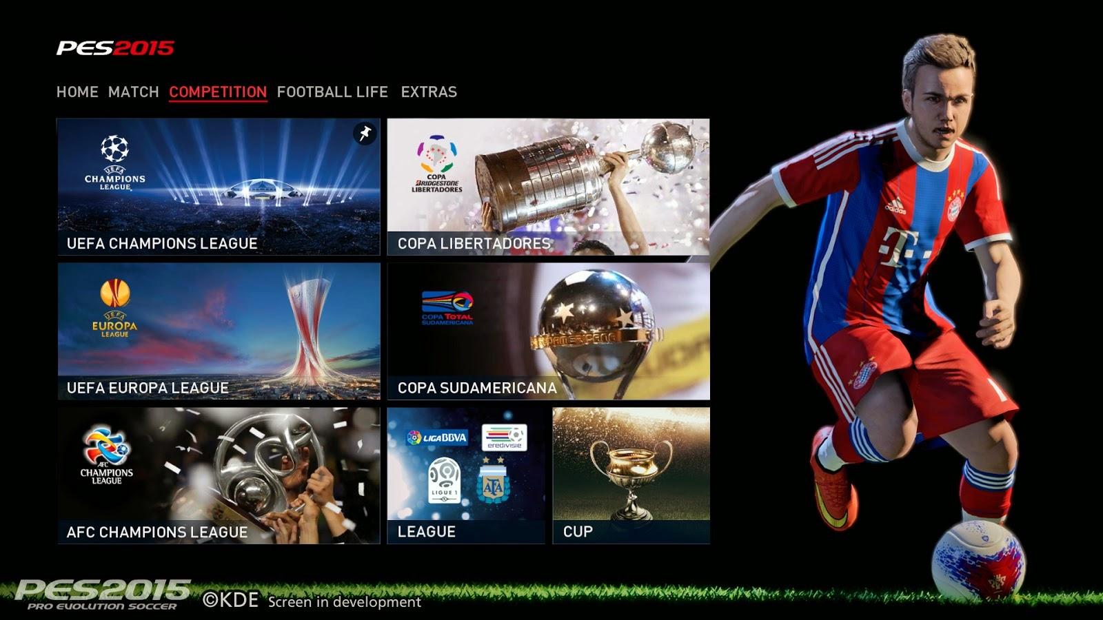 Ligas, copas e competições continentais licenciadas em PES 2015