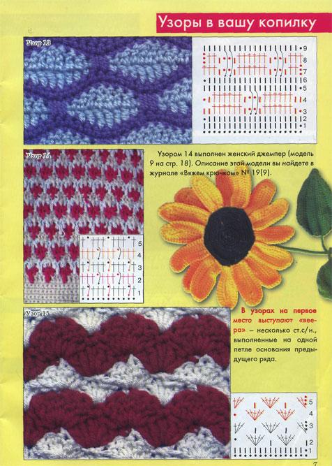 Двухцветные узоры вязания спицами