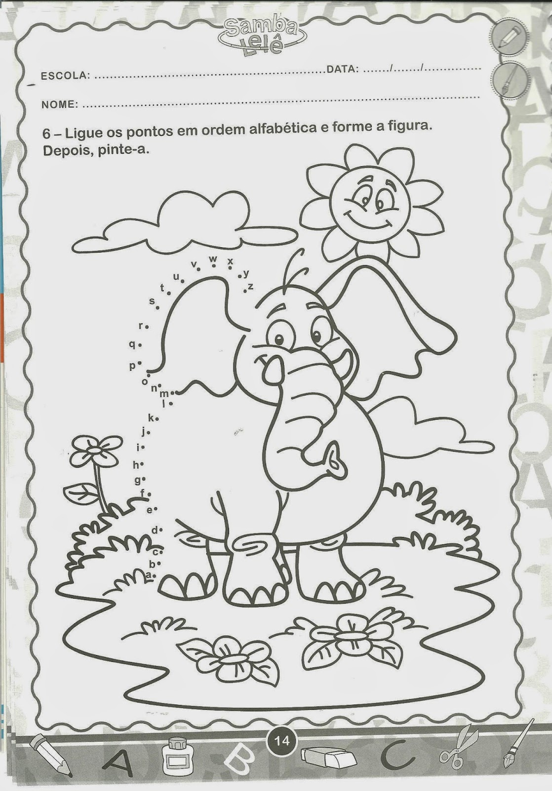ligue o alfabeto ideias atividades escolares