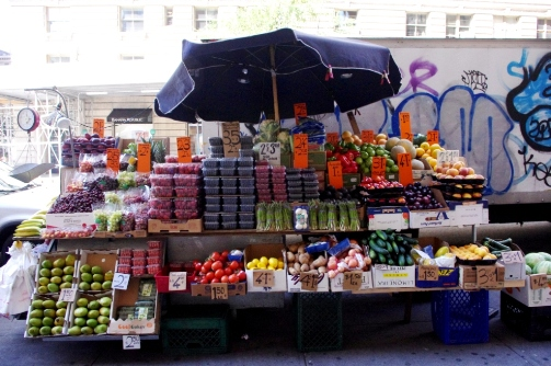 Fruit and Veggie Cart Upper West Side