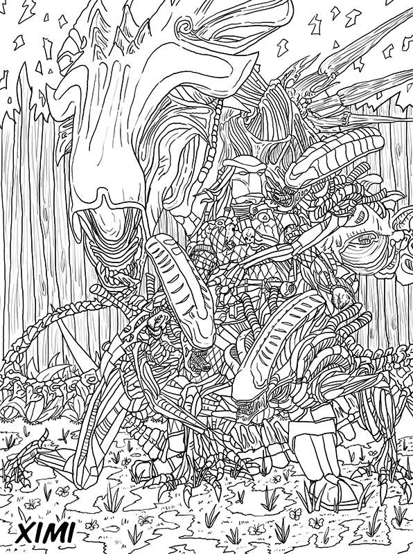 Para Colorear De Alien Vs Predator | www.imagenesmy.com