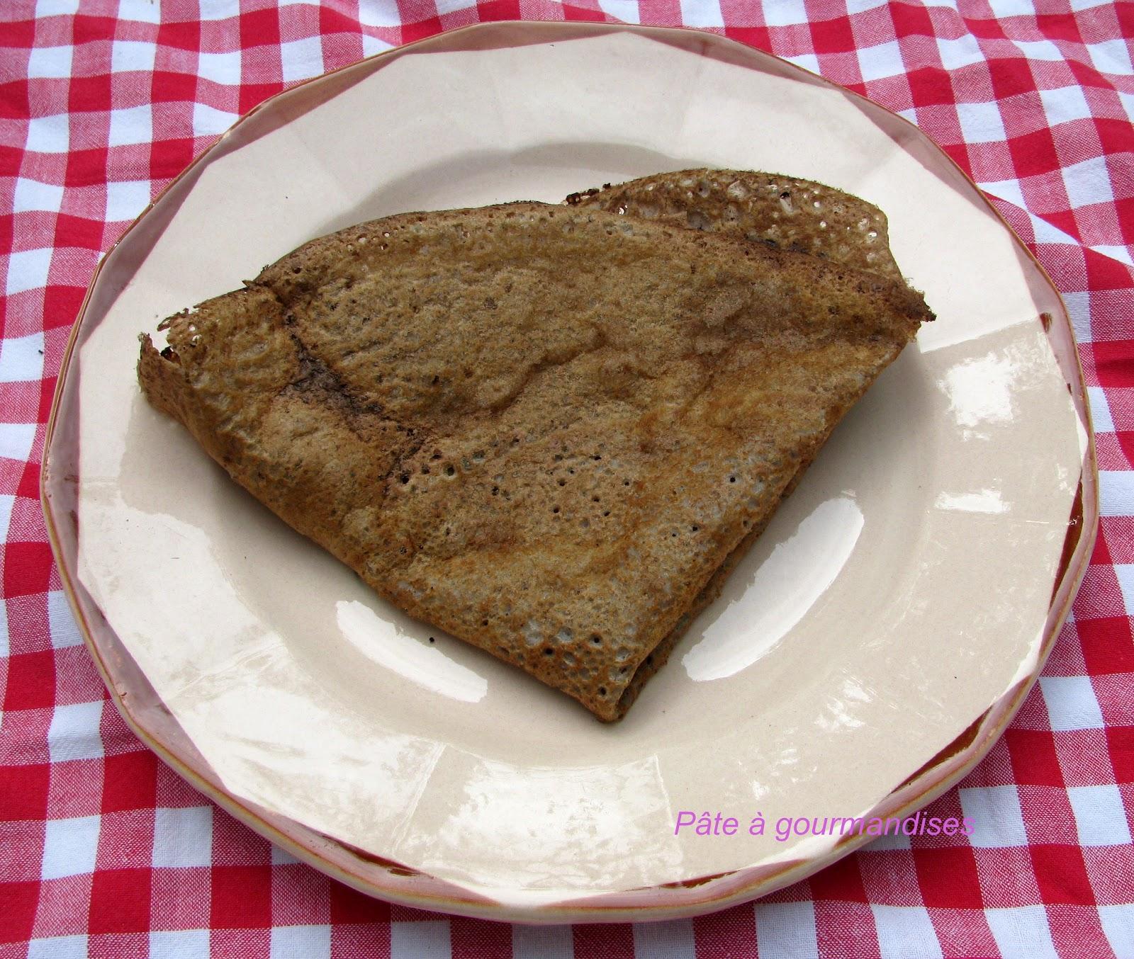 P te gourmandises galette de sarrasin au chocolat - Galette sarrasin sans oeuf ...
