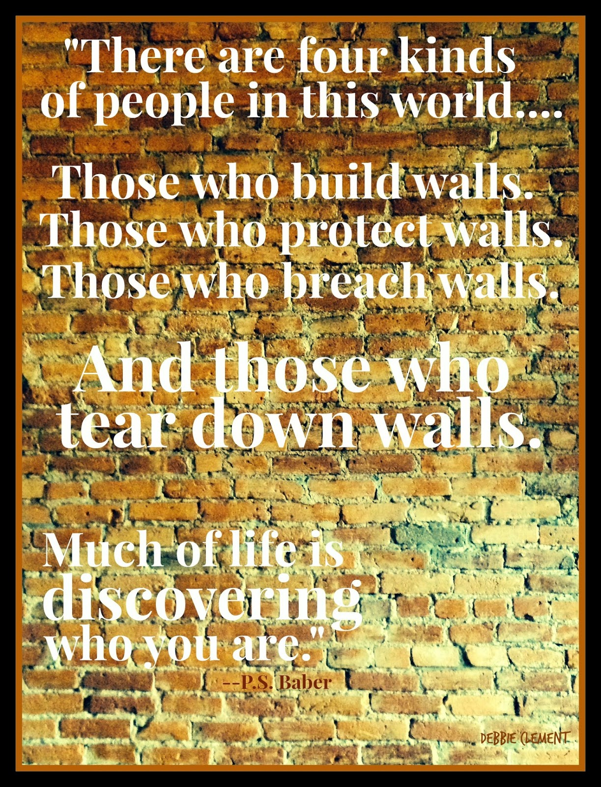 Wall quote about 'Four Kinds of People' via RainbowsWithinReach
