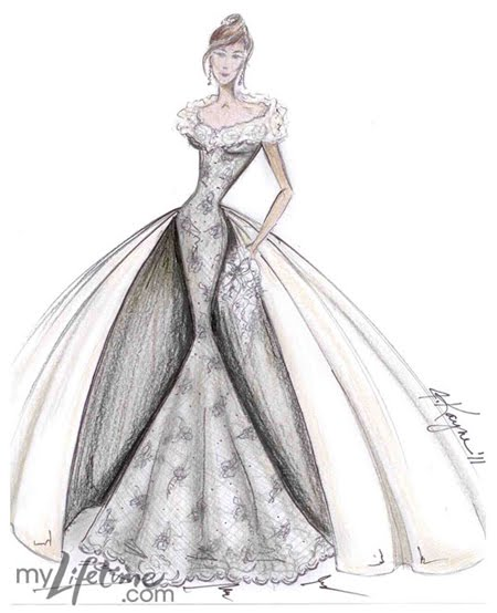 kate middleton wedding dress sketches. Kate Middleton Wedding Dress
