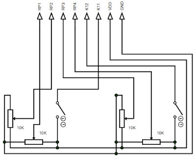 Skema joystick twin - Jalur skematik joystick