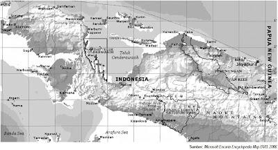Peta Administratif Kepulauan Papua