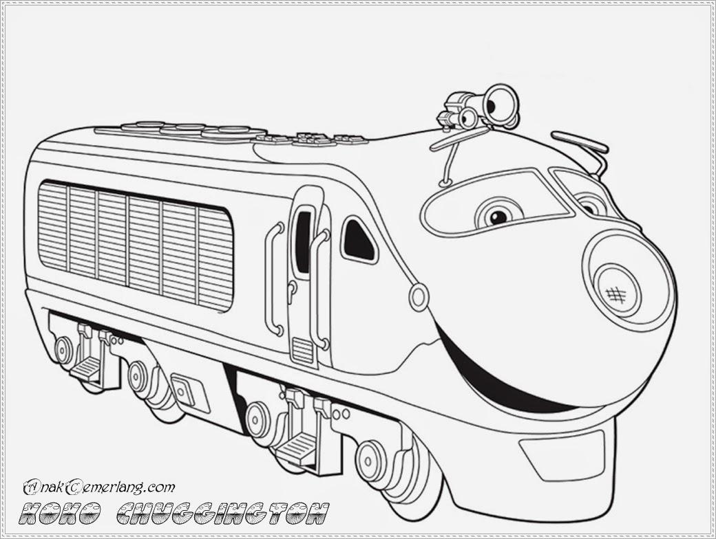 mewarnai kereta api kartun chuggington