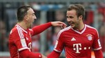 Bayern Munich : Ribery holder Götze on the bench