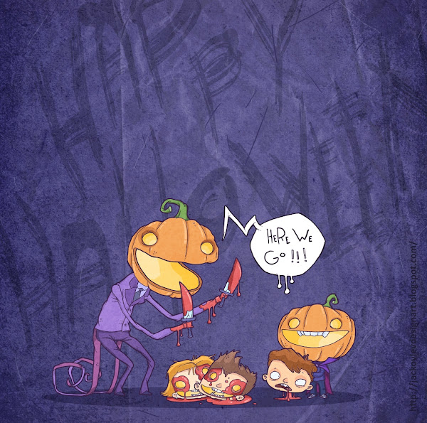 Ilustração Evgeny Yakovlev Happy Halloween