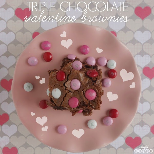 Triple Chocolate Valentine Brownies @ Blissful Roots