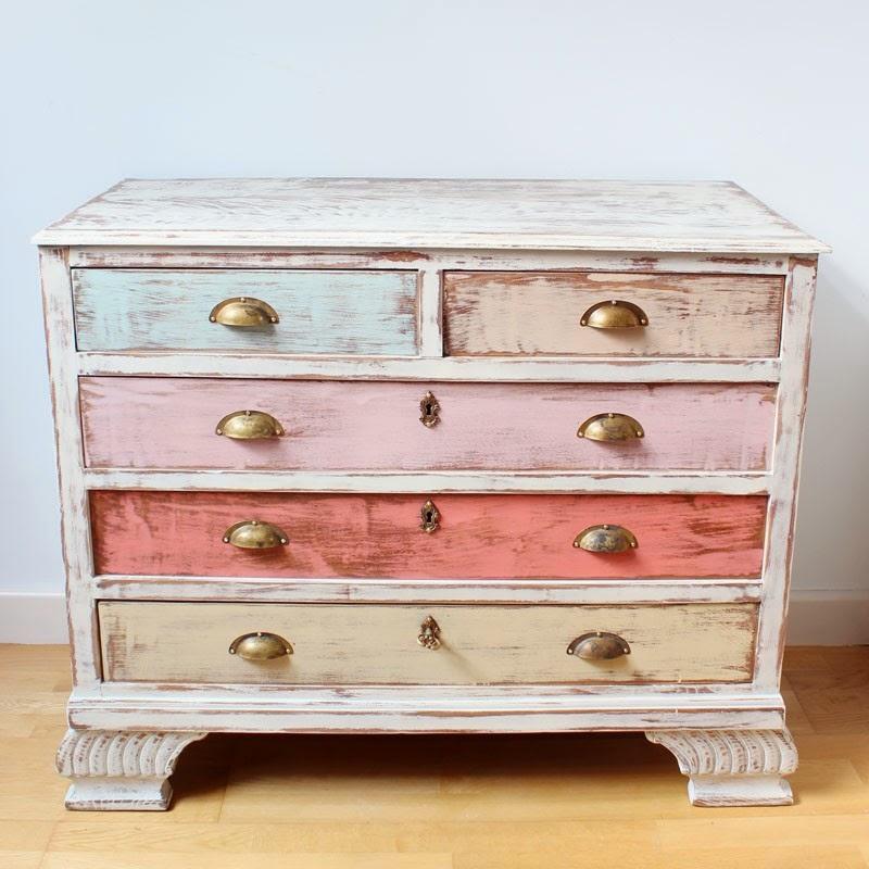 El taller de cayetana junio 2014 for Colores vintage para muebles