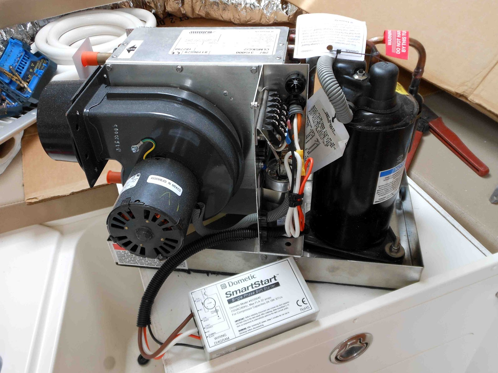 The Marine Installers Rant Chilling Me Softly Cruisair Ac Wiring Diagram This Small Box Learns How Compressor Starts And Optimizes Starting Cycle To Reduce Surge In Larger Air Conditioning