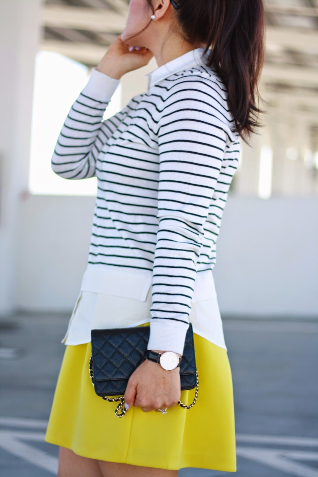 simplyxclassic, orange county blogger, fashion blogger, style, ootd, loft, ann taylor, chanel wallet on a chain, mommy blogger,