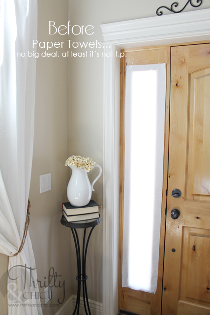 diy frosted sidelights