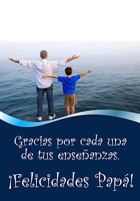 postales con mensajes para festejar el Día del Padre
