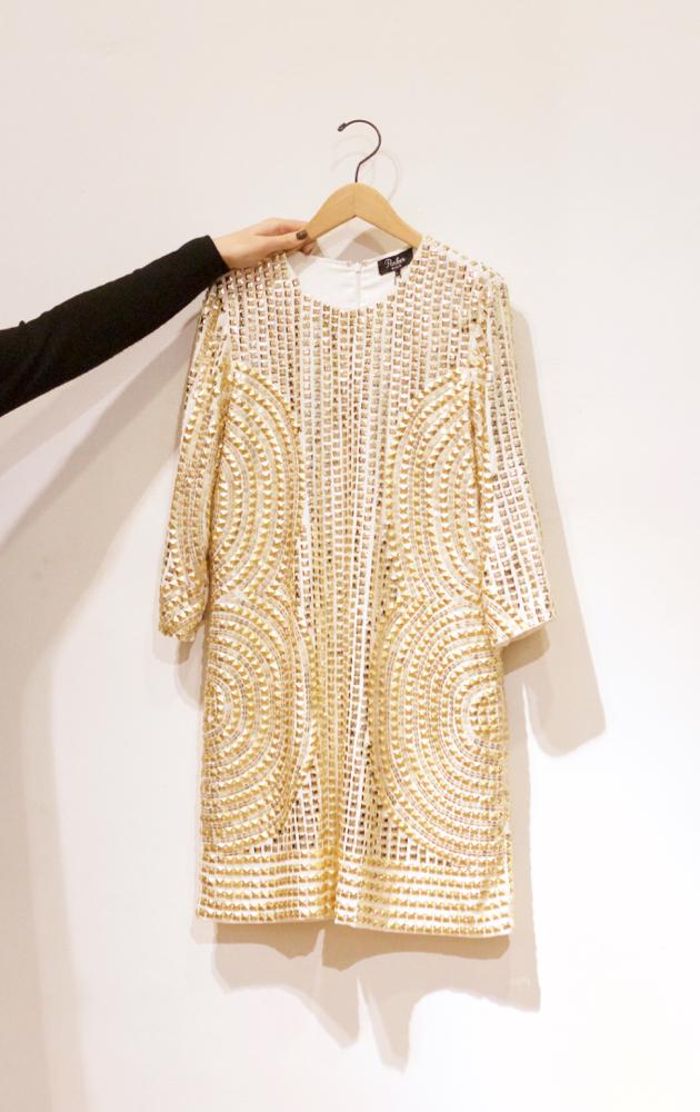 Metallic gold Parker Petra dress