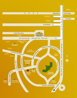 La Vie Flats Alabang Location Map, Condominium for sale in Alabang, Filinvest