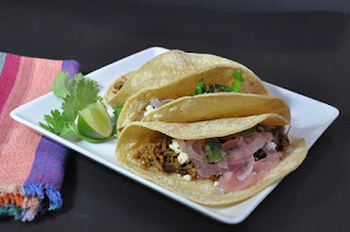 Recipe: Pulled pork tacos with pickled onions