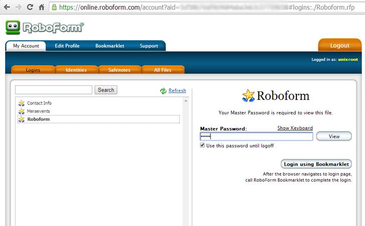 roboform online app