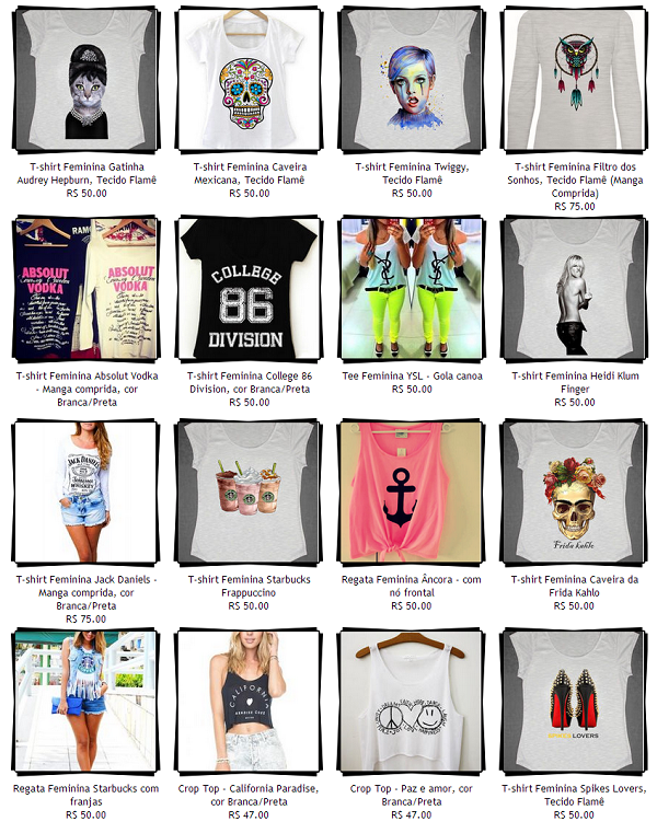 Camisetas Fashion