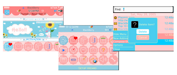 Pink+Blue Pink Blue for blackberry 8520 themes