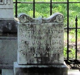 Gravestone of Dorothea Guenther