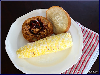 barbecue pulled pork corn on cob