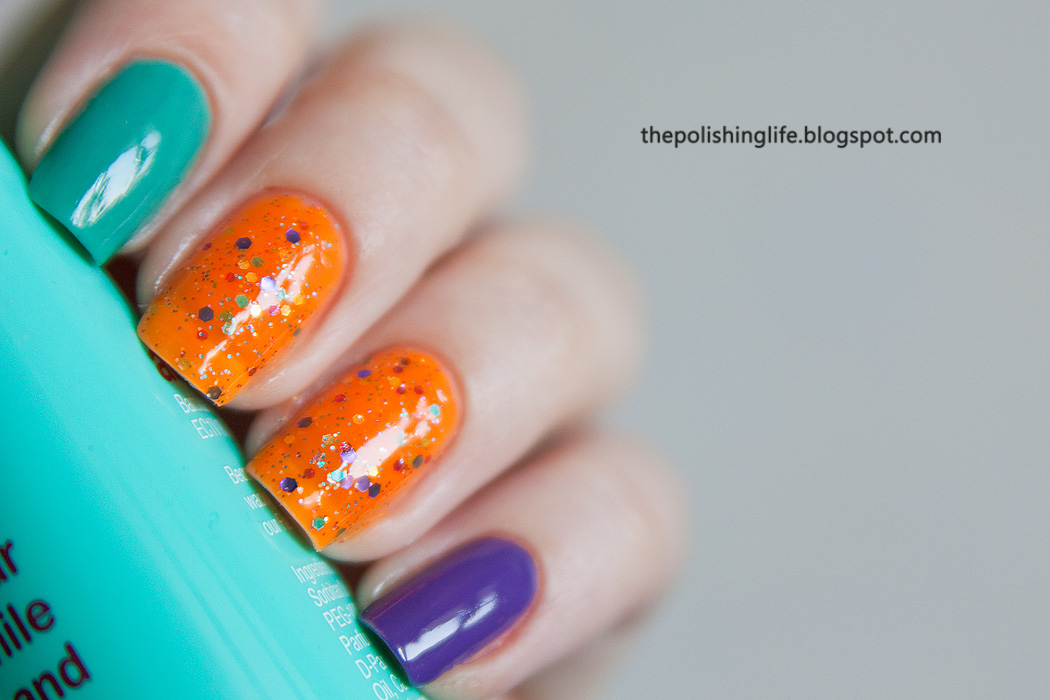 KBShimmer Orange Pop with Barielle Do Unto Others and Grape Escape