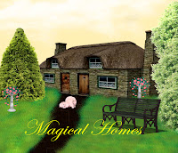 Magical Homes digital fantasy backgrounds