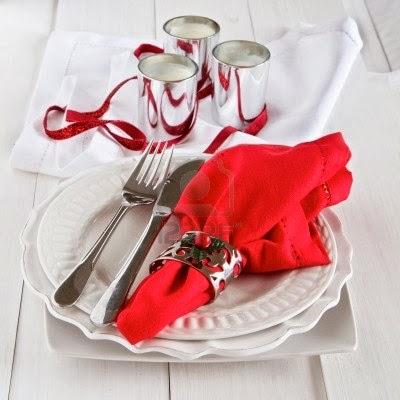 Christmas table decoration in red part 3 - Mesas de navidad decoradas ...