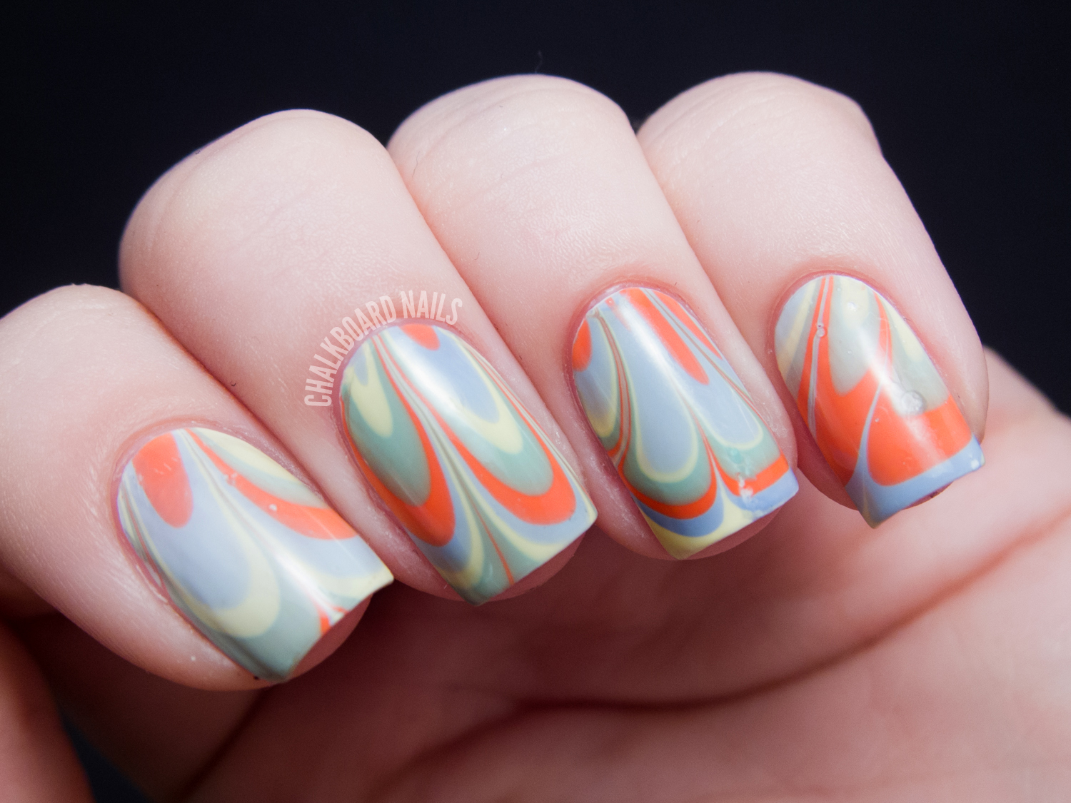 Magnificent Cute Nail Designs Water Marble Gallery - Nail Art Ideas ...