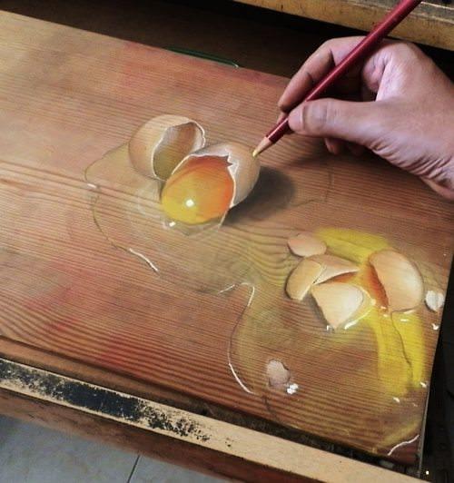 超リアルな色鉛筆画