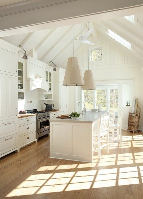 Kitchen Design Vaulted Ceiling